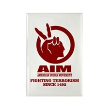 AIM (Fighting Terrorism Since 1492) Magnets