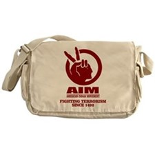 AIM (Fighting Terrorism Since 1492) Messenger Bag
