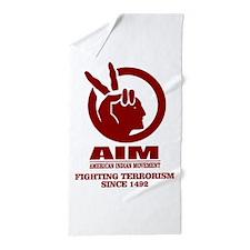 AIM (Fighting Terrorism Since 1492) Beach Towel