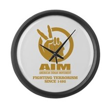 AIM (Fighting Terrorism Since 1492) Large Wall Clo