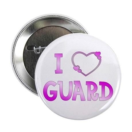 """I Love Guard 2.25"""" Button (10 pack)"""