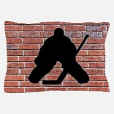 Hockey Goalie Brick Wall Pillow Case
