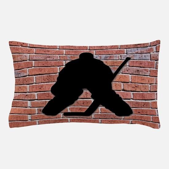 Hockey Goalie Brick Wall Pillow Case