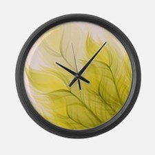 Beautiful Feather Golden Yellow Leaf Large Wall Cl