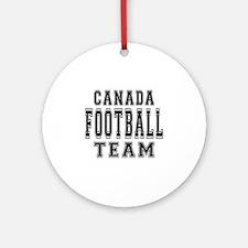 Canada Football Team Ornament (Round)