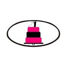 Hot Pink and Black Wedding Cake Patches