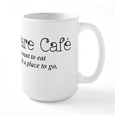 I Don't Care Cafe Mugs