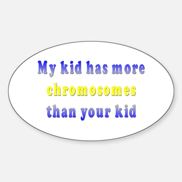 More Chromosomes Oval Decal