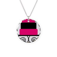Hot Pink and Black Cake Necklace