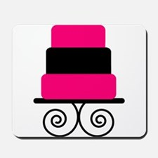 Hot Pink and Black Cake Mousepad