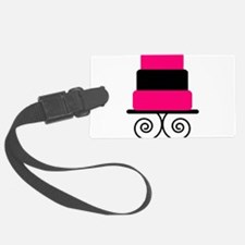 Hot Pink and Black Cake Luggage Tag