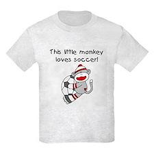 Little Monkey Loves Soccer T-Shirt