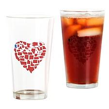 Mississippi Heart Drinking Glass