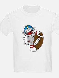 Sock Monkey Football T-Shirt