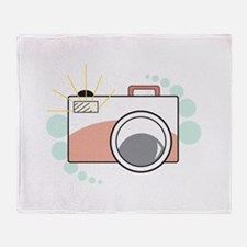 Vintage Camera Throw Blanket