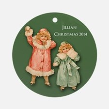 Personalized Victorian Children Ornament (round)