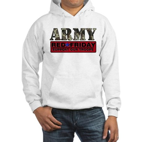 Red Friday Army Hooded Sweatshirt