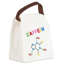 Caffeine structural formula hop Canvas Lunch Bag