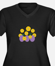 Easter Egg Flowers Plus Size T-Shirt