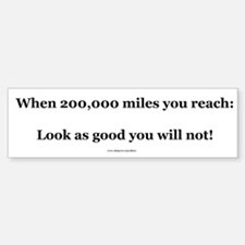 200000 Mile Bumper Sticker (Level 2)