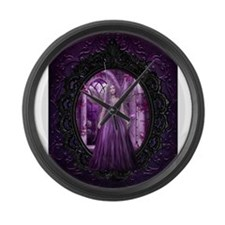 Lavender Fairy Large Wall Clock