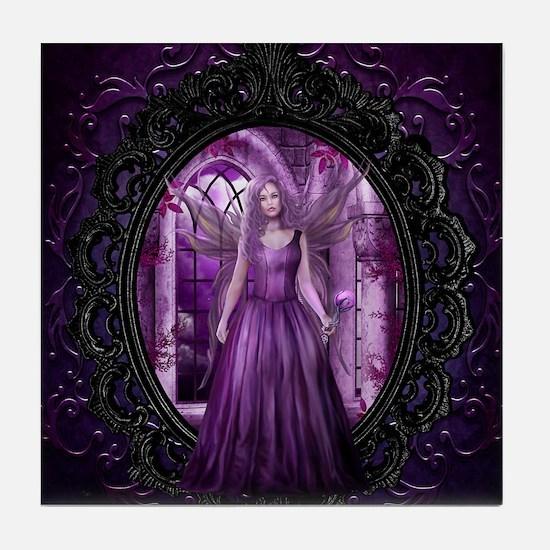 Lavender Fairy Tile Coaster
