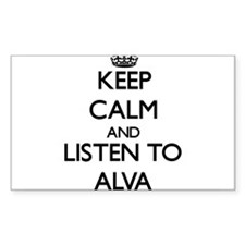 Keep Calm and Listen to Alva Decal