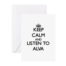 Keep Calm and Listen to Alva Greeting Cards