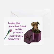 Doberman Greeting Cards (Pk of 10)