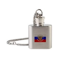 Russian Federation Flask Necklace