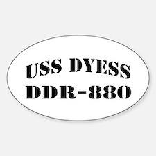 USS DYESS Sticker (Oval)