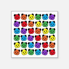 "all bear pattern Square Sticker 3"" x 3"""