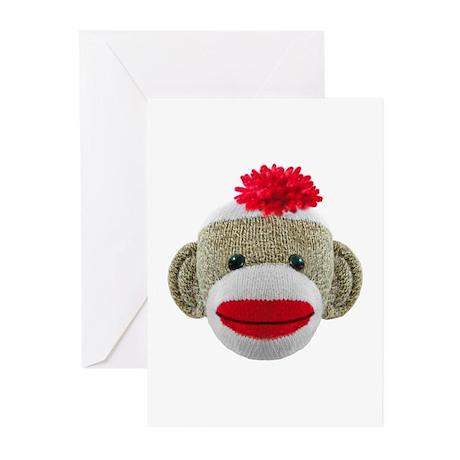 Sock Monkey Greeting Cards (Pk of 10)