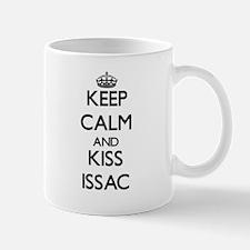 Keep Calm and Kiss Issac Mugs