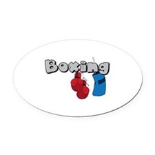 Boxing Oval Car Magnet