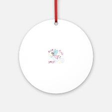 Brush Floss Smile Ornament (Round)