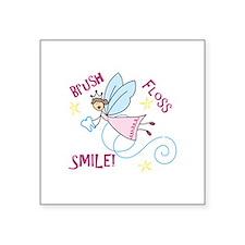 Brush Floss Smile Sticker