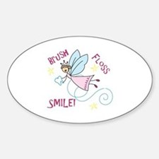 Brush Floss Smile Decal