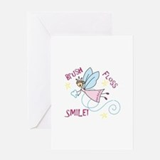 Brush Floss Smile Greeting Cards