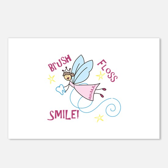 Brush Floss Smile Postcards (Package of 8)