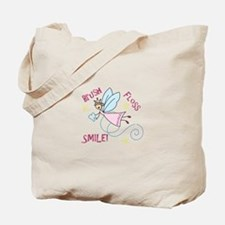 Brush Floss Smile Tote Bag
