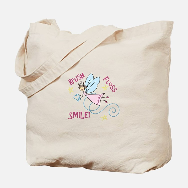 Brush Floss Smile Tote Bag
