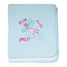 Brush Floss Smile baby blanket