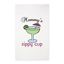 Mommys Sippy Cup 3'x5' Area Rug