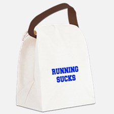 running-sucks-FRESH-BLUE Canvas Lunch Bag