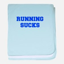 running-sucks-FRESH-BLUE baby blanket