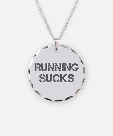 running-sucks-CAP-GRAY Necklace