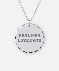 real-men-love-cats-FRESH-GRAY Necklace