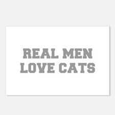 real-men-love-cats-FRESH-GRAY Postcards (Package o