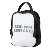 Real men love cats Neoprene Lunch Bag
